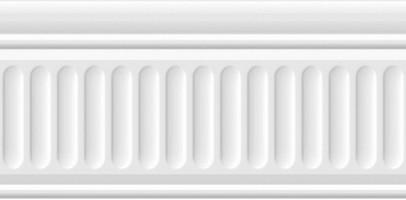 Бордюр 19030/3F Карнавал в Венеции белый структурированный 20x9.9 Kerama Marazzi