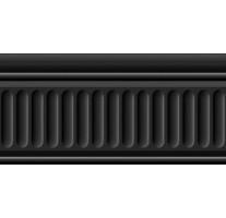 Бордюр 19031/3F Карнавал в Венеции черный структурированный 20x9.9 Kerama Marazzi