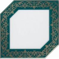 Декор Клемансо HGD/E250/18000 зеленый темный 15x15 Kerama Marazzi