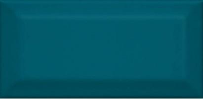 Настенная плитка Клемансо 16057 бирюзовый грань 7.4x15 Kerama Marazzi