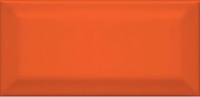Настенная плитка Клемансо 16075 оранжевый грань 7.4x15 Kerama Marazzi