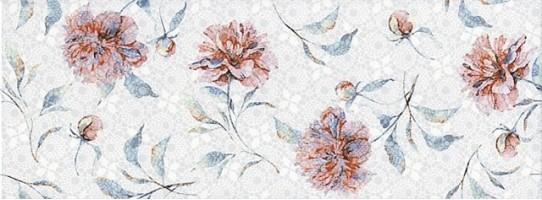 Настенная плитка 15004 N Ковентри цветы 8мм 15x40 Kerama Marazzi