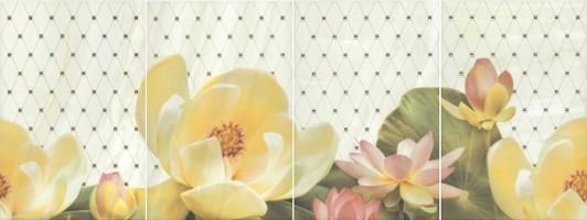 Панно Летний сад фисташковый, панно из 4 частей 20х30 HGD/C56/4x/8261 Kerama Marazzi