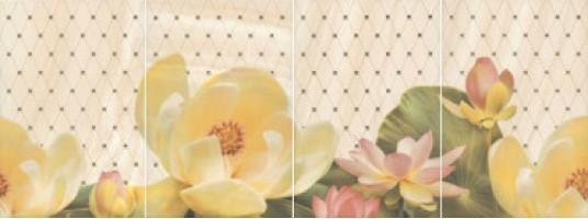 Панно Летний сад беж HGD/В56/4x/8260 комплект из 4х частей 20x30 Kerama Marazzi