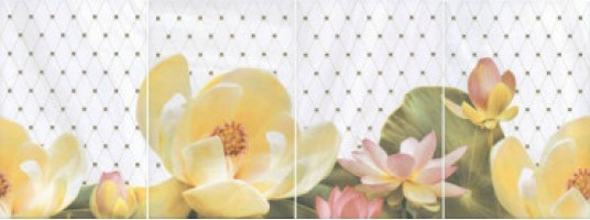 Панно Летний сад светлый HGD/A56/4x/8259 комплект из 4х частей 20x30 Kerama Marazzi