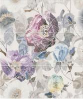 Панно Линьяно Цветы из 3-х частей ALD/A36/3x/7071T 60x50 Kerama Marazzi