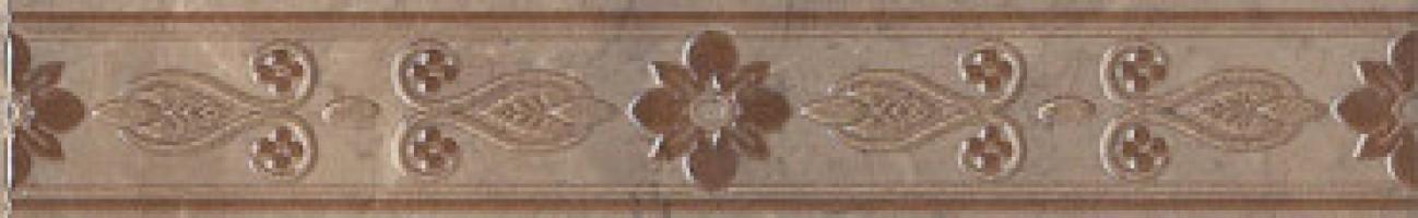 Бордюр настенный MLD/B06/6240 Мармион коричневый 6x40 Kerama Marazzi