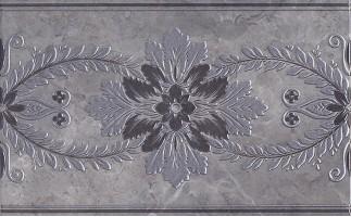 Декор настенный MLD/D04/6242 Мармион серый 8мм 25x40 Kerama Marazzi