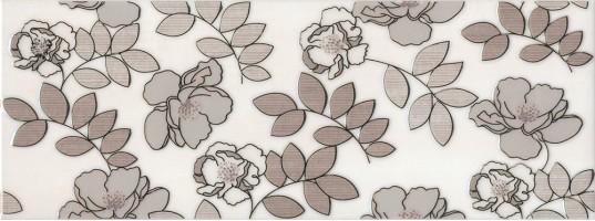 Декор STG/A182/15010 Ньюпорт цветы коричневый 8мм 15x40 Kerama Marazzi