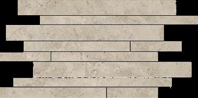 Бордюр Kerama Marazzi Ровиго серый светлый мозаичный 25x50.2 SG188\002