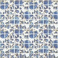 Декор мозаичный DT19 Мотив синий 29.8x29.8 Kerama Marazzi