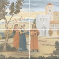 Панно Виченца VB/A04/4x/17000 4 части (15х15) 30x30 Kerama Marazzi