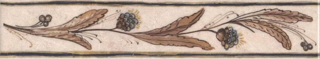 Настенный бордюр AD/A259/8245 Вилла Флоридиана 30x5.7 Kerama Marazzi