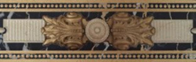 Бордюр Kerlife Portoro Cen. Medici Marfil New 8x25