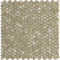 Мозаика L244008671 Gravity Aluminium Hexagon Gold 30.7x30.4 L'Antic Colonial