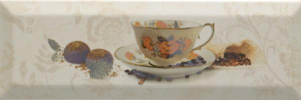 Декор Bonjour Decor Cafe Marfil 10x30 Monopole Ceramica