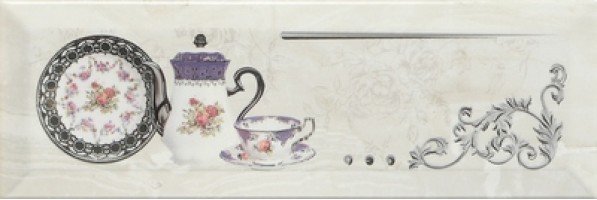 Декор Decor Petra Pranzo Silver B 10x30 Monopole Ceramica