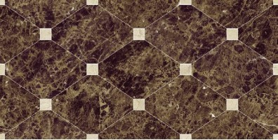 Плитка Navarti Crema Marfil Crown Marron 25x50 настенная