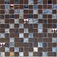 Мозаика ONIX Mosaico Rev. Mystic Glass Agata Diamond Brown Malla 31.1x31.1