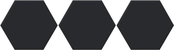 Керамогранит Oset Versalles HEX Black 20x24