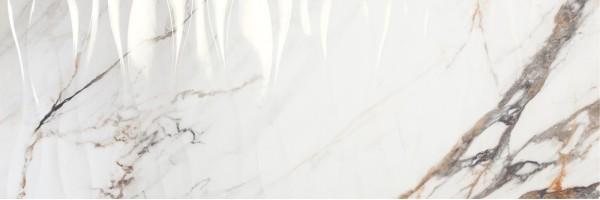 Плитка Porcelanite Dos 1219 Calacata Gold Rel. Wave Rectificado 40x120 настенная