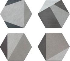 Керамогранит Hextangram Fabric Grey 33x28.5 Realonda Ceramica