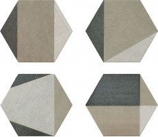 Керамогранит Hextangram Fabric Taupe 33x28.5 Realonda Ceramica