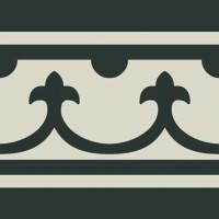 Декор Pasion Negro Cenefa 20x20 (Ribesalbes Ceramica)