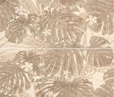 Панно 532082 Natural Decoro Monstera Modulo B+D Ivory компл.из 2шт 64x75 Roberto Cavalli