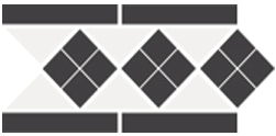 Бордюр TopCer Octagon Border Lisbon-1 With 1 Strip Stand.(Tr.16. Dots 14. Strips 14) 28x15