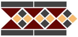 Бордюр TopCer Octagon Border Lisbon With 1 Strip (Tr.20. Dots 14+21. Strips 14) 28x15