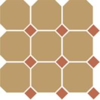 Керамогранит TopCer Octagon 4403 Oct04-1ch Yellow Octagon 03/Caramel Dots 04 30x30