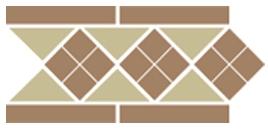 Бордюр TopCer Victorian Designs LISBON-1 with 1 strip (Tr.03 Dots 04 Strips 04) 28х15