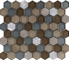 Мозаика L241711091 Fusion Hexagon Caramel Mix 29.5x25.5 L'Antic Colonial