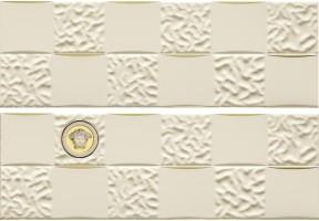 Декор Versace Gold Decori Acqua Dama Decorato Crema Oro 25x75 68852