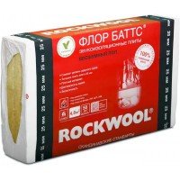 Звукоизоляционные плиты ROCKWOOL Флор Баттс 1000х600х25 мм 4.8 кв.м