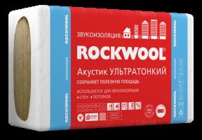 Звукоизоляция ROCKWOOL Акустик Баттс ПРО Ультратонкий 1000х600х27 мм 7.2 кв.м